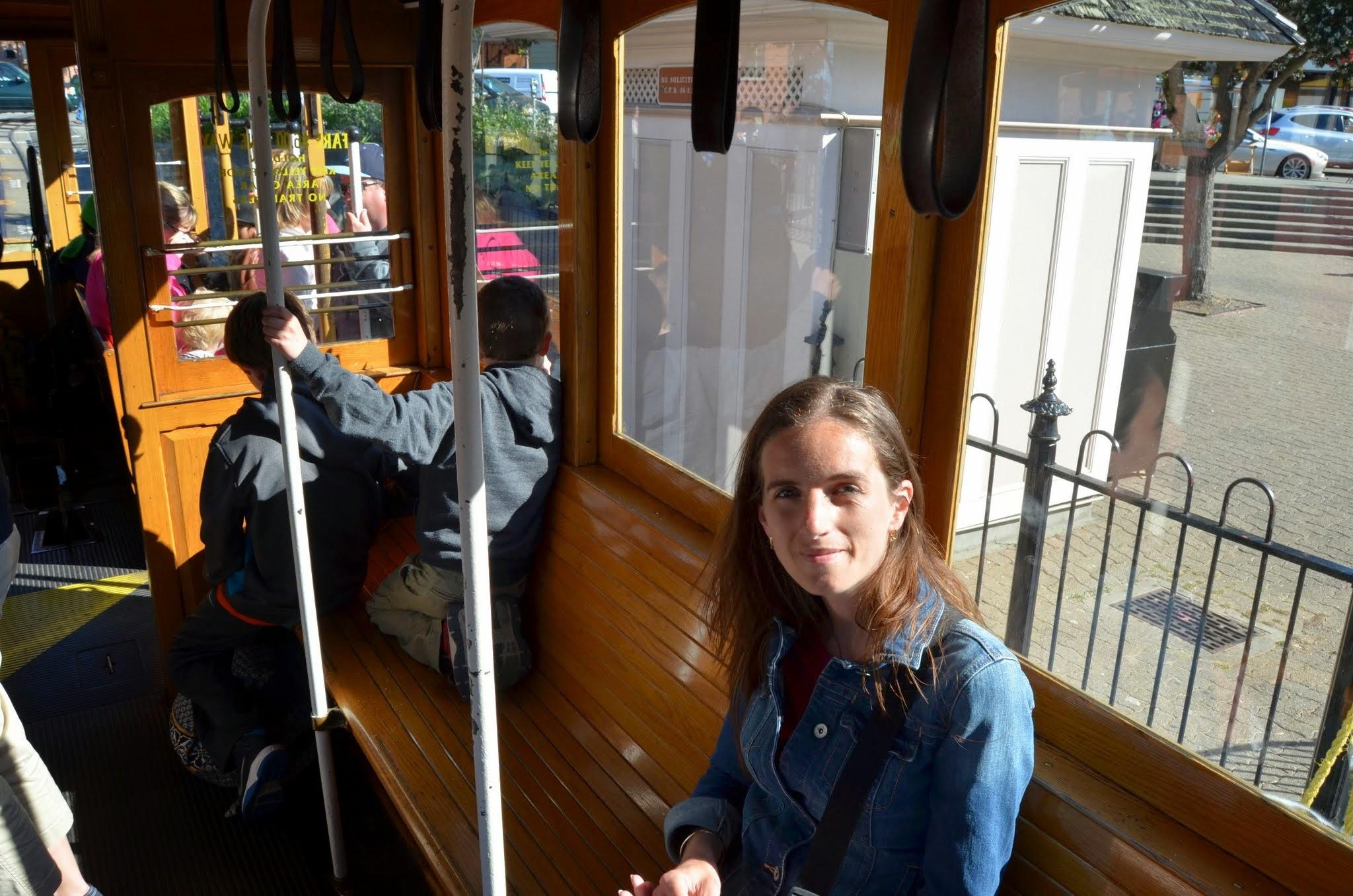 În tramvai